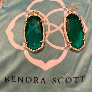 Kendra Scott Holiday earrings in Green